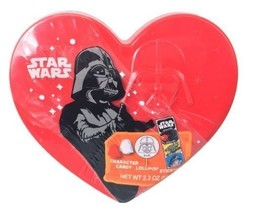 Star Wars Darth Vader Gift Container with Candy Lollipop Stickers 1.67oz... - $11.88