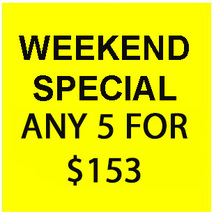 FRI-SUN FLASH SALE! PICK ANY 5 FOR $153  BEST OFFERS DISCOUNT - $306.00