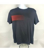 Fila Sport Mens Shirt Sz L Lg Athletic Top Black Red Short Sleeve Fitness - $12.12