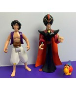 Lot of Disney Aladdin Mattel 1992 Action Figures Aladdin Jafar Iago Pre-... - $12.86