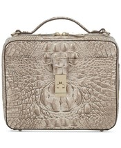 NWT BRAHMIN EVIE TEXTURED LEATHER CROSSBODY BAG SUGAR CANE - $192.05