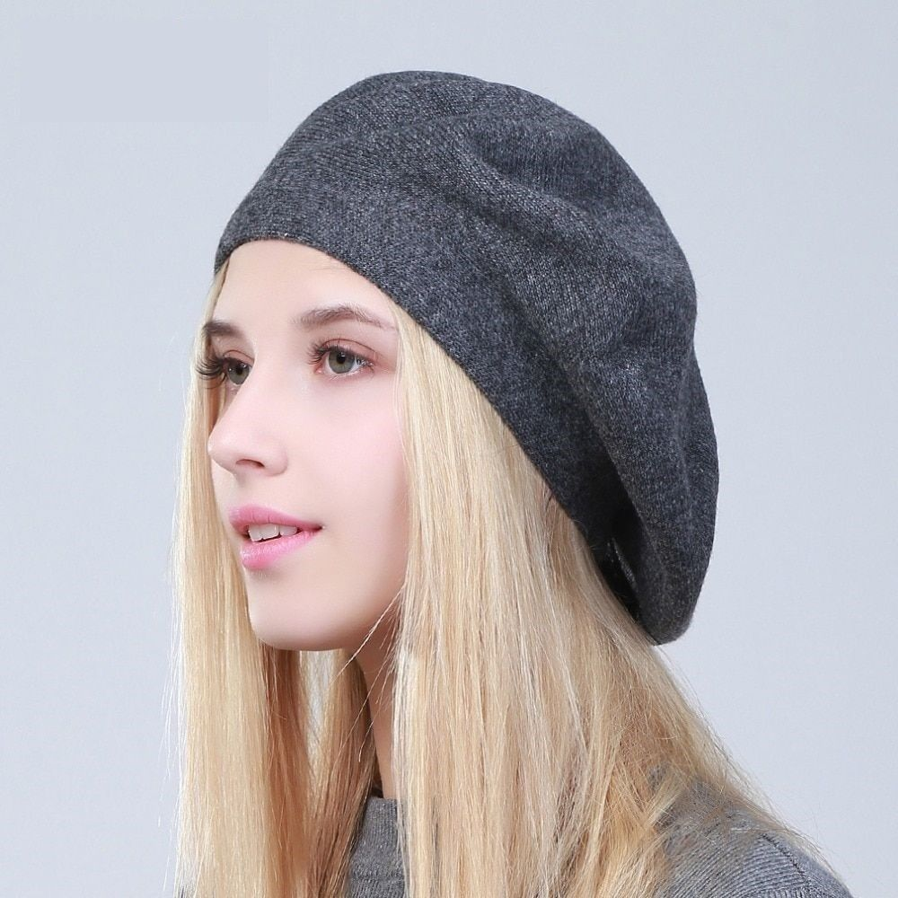 d1f9e5aa6 Women Winter Beret Casual Hat Knitted Wool and similar items