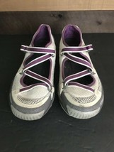 Women's Sperry Top Sider Son-R Ivory Purple Boat Water Sport Shoes Mismatched - $23.38