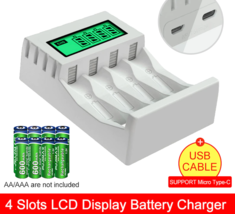 LCD Display Smart Intelligent Battery Charger 4 Slots  - $15.71