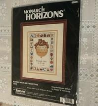 New MIP Monarch Horizons Counted Cross Stitch Kit CS54 Flying High Birth... - $11.49