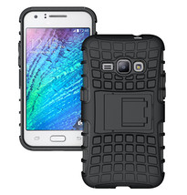 Dual Layer Hybrid Stand Cover Case For Samsung Galaxy J1 2016 - Black  - $4.99