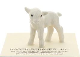 Hagen-Renaker Miniature Ceramic Lamb Figurine Baby White Single