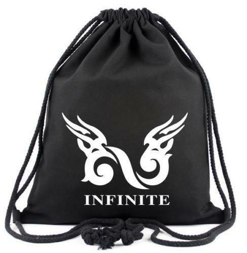 Kpop GOT7 EXO BIGBANG SHINEE Canvas Traveling Sport Backpack Drawstring Bag
