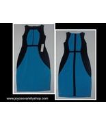 Jay Godfrey Blue & Black Geometrical Dress NWT Petite Sz 4 - $19.99