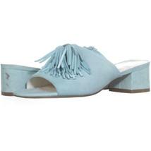 Anne Klein Salome Tassel Mule Sandals 050, Light Blue, 6 US - $21.11