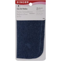 Singer 5-inch-by-5-inch Iron-On Patches, Denim, 2 per package - $3.72