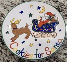 "Mikasa Ultra Ceram Cookies for Santa 11"" Plate FX056 Santa's Treat  - $9.26"