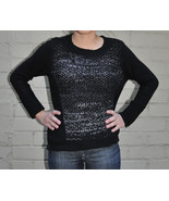 Curio New York Black Cable knit LS Sweater S Womens - $23.46