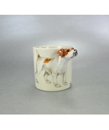Blue Witch Jack Russell 3D Handpainted Mini Mug Cup - $15.00