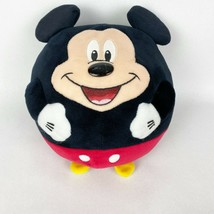 """Disney TY Mickey Mouse Beanie Ballz Plush Ball Stuffed Toy 8"""" Smiling Round - $15.44"""