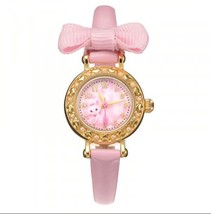Disney × Angelic Pretty Marie ribbon Wrist watch pink Girl Japan FS - $116.82