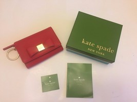 RARE! Kate Spade NY Red /Bow/Gold hardware Coin... - $69.29