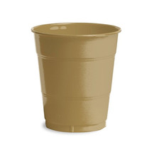 12 oz Solid Plastic Cups Glittering Gold/Case of 240 - $55.88