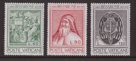 1972 Cardinal Bessarion Set of 3 Vatican Stamps Catalog Number 528-30 MNH