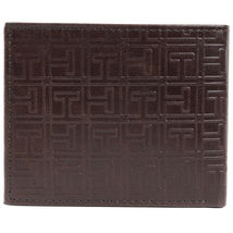Tommy Hilfiger Men's Double Bill Fold Wallet & KeyFob Box Set Brown 41TL25X024 image 6