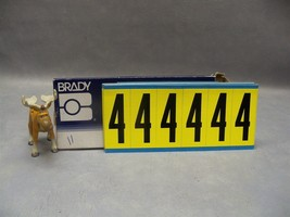"Brady #4 3450 Series Repositionable labels 3450-4 34504 numbers 3"" H Lot... - $50.18"