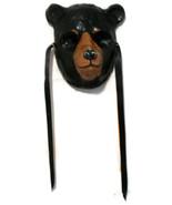 Halloweem Mask Black Bear Vintage Reproduction Handmade  - $50.00