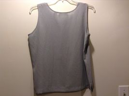 Used Great Condition Draper's and Damon's Large Semi Sheer Gray Tank Top image 4