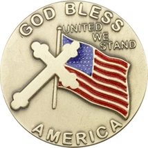 Visor Clips - God Bless America - Gold Finished - $25.99