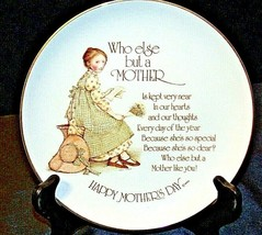 "1976 Happy Mother's Day ""Who else but a Mother"" by Holly Hobbie AA20-CP2239 Vint"