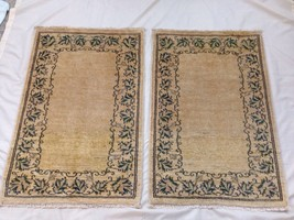 """️Hand Knotted 26""""x40"""" 100% Wool Pile Carpet Set of 2 Area Prayer Rugs - $78.21"""