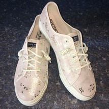 Sperry Top-Sider Beige/Gold Snake Print Leather SEACOAST Slip-on Sneaker Sz 9.5 - $52.93 CAD