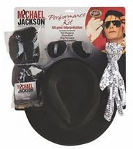 Michael Jackson Costume Accessory Kit With Wig, Hat, Glove And Glasses - $1.480,96 MXN