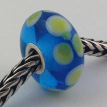 Authentic Trollbeads Ooak Murano Glass Unique Bead Charm #212, 16mm Diameter New - $33.24
