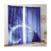 "Frozen Elsa flat Curtain Doorway polyester Blue Partition 135×200  78.7""... - $224.73"