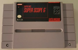 N) Super Scope 6 (Super Nintendo Entertainment System 1992) Video Game Cartridge - $3.95