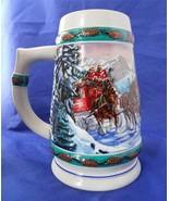1993 Ceramarte Budweiser Clydesdale Beer Stein Special Delivery Nora Koerber - $5.00