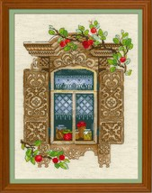 Cross Stitch Kit Riolis Window With Apples - $33.00