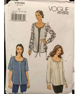 Vogue V9086 Pattern 3 Different Style Tops Uncut Sizes 8-16 - $26.43