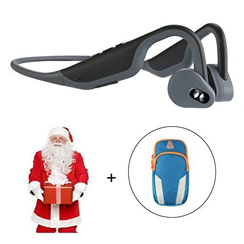 Trcode Bone Conduction Headphones Bluetooth with Microphone,30 Mins Fully Charge