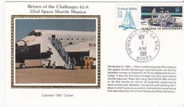 RETURN OF CHALLENGER 61-A EDWARDS CA NOVEMBER 6 1985 COLORANO SILK  - $2.98