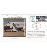 RETURN OF CHALLENGER 61-A EDWARDS CA NOVEMBER 6 1985 COLORANO SILK  - £2.29 GBP