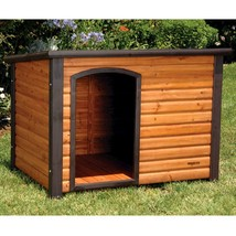 Wood Dog House Large Precision Pet Outback Log Exterior Plastic w Feet R... - $257.99