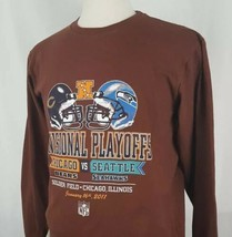 Seattle Seahawks Chicago Bears 2011 NFC Divisional Playoff T-Shirt L/S S... - $19.79