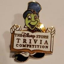 Disney Store Pinocchio Jiminy Cricket Pin Trivia Competition Cast Award Misspell - $65.32