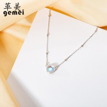 Gemei 2018 New Round Moonstone Necklaces & Pendants For Women Fashion 92... - $23.71