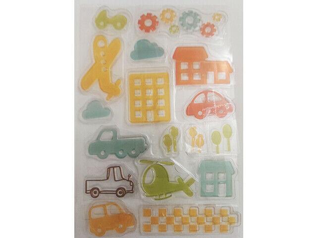 Cute Transportation Clear Stamp Set