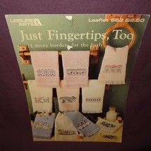 Just Fingertips Too Towels Cross Stitch Pattern Booklet 668 1988 11 Designs - $7.99