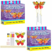 Butterfly Wind Chime Crafts Painting Drawing Art Gift Creativity For Kid... - $10.21