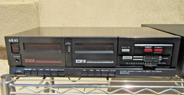 Vintage Akai Stereo Double Cassette Deck HX-A301W Dolby System - $36.01