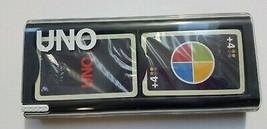 Uno Mod Card Game Black Plastic Case Mattel Games Instructions Sealed 2009  - $39.55